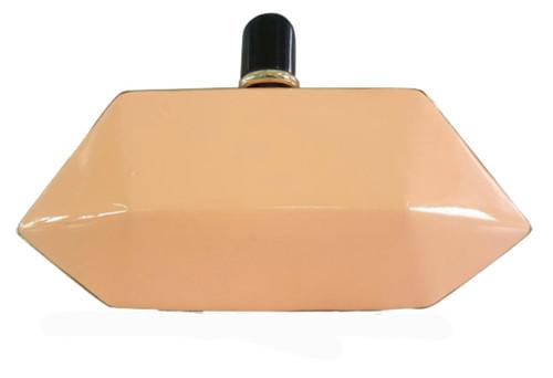 Hexagonal Box Hard Case Clutch Bag