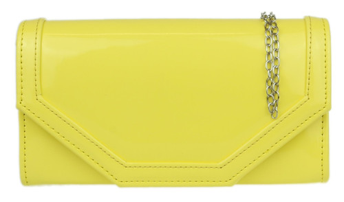 Patent Plain Clutch Bag