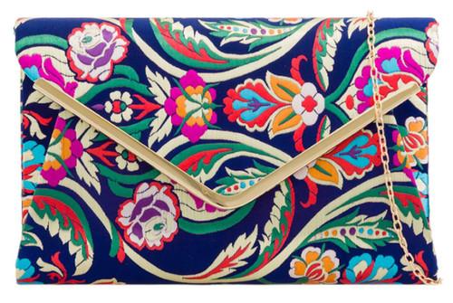 Baroque Flower Clutch Bag