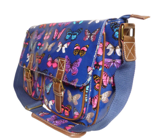 Butterfly Print Cross Body Satchel Bag