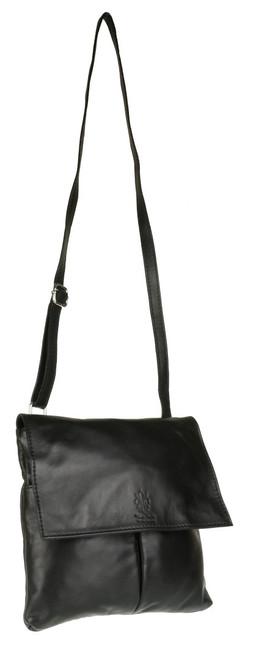 Double Pocket Italian Leather Messenger Bag