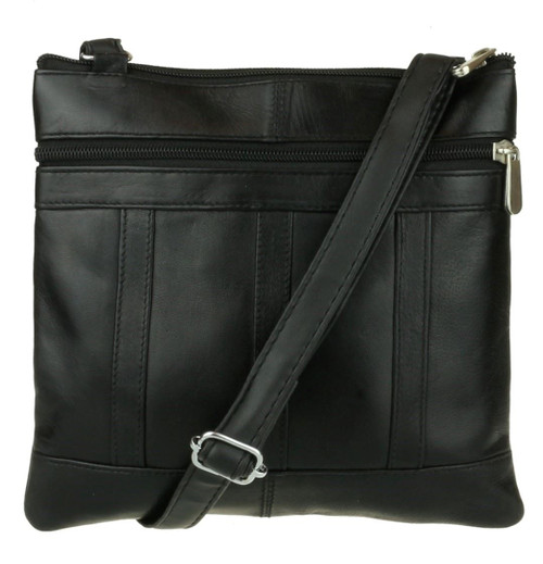 Zipper Genuine Shoulder Bag
