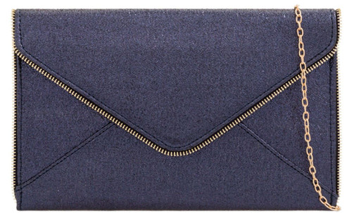 Zip Trim Clutch Bag
