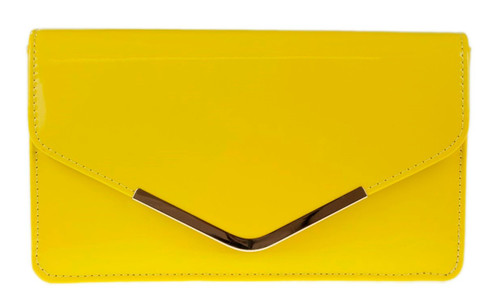 Metallic Frame Envelope Clutch Bag