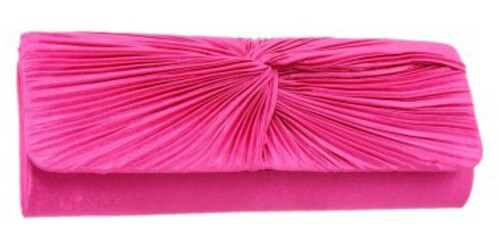 Knot Pleated Clutch Bag