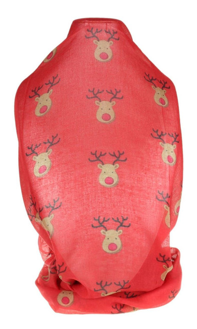 Rudolph Red Nose Print Scarf