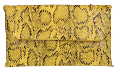 Snake Skin Envelope Clutch Bag