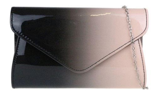 Gradient Glossy Clutch Bag