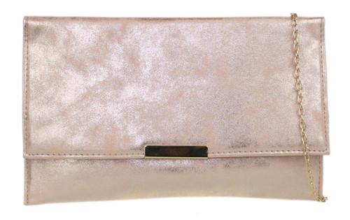 Gradient Suede Clutch Bag