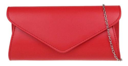 Faux Leather Plain Clutch Bag
