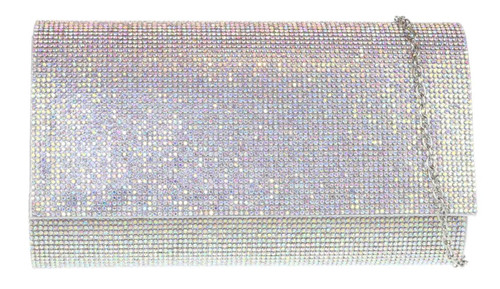 Womens Rhinestone Chainmail Clutch Bag
