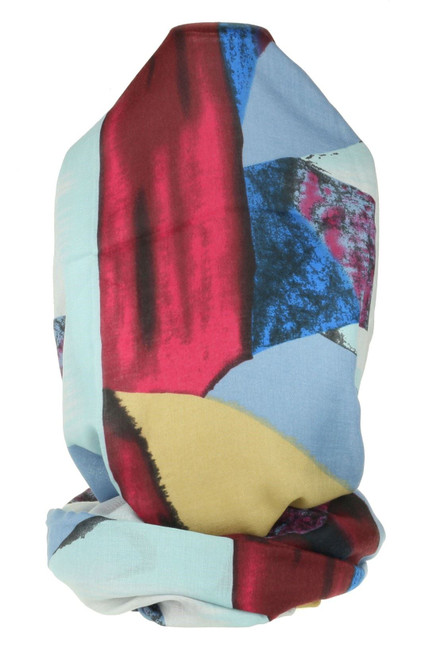 Painted Triangle Print Scarf