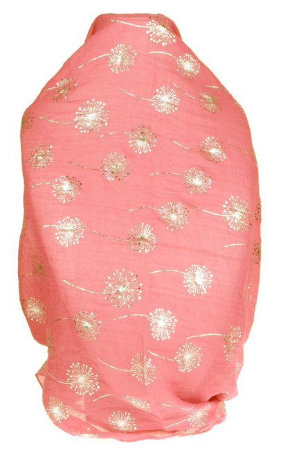 Glitter Dandelion Print Scarf