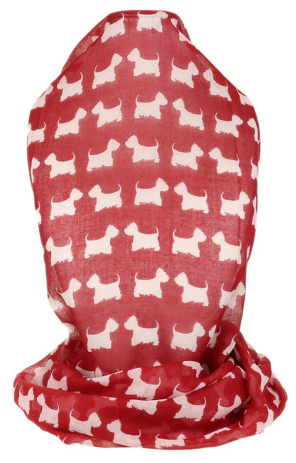 Mini Scottie Print Scarf