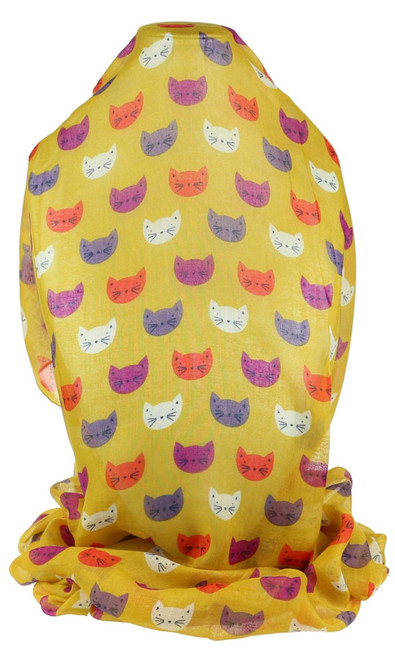 Cats Faces Print Scarf
