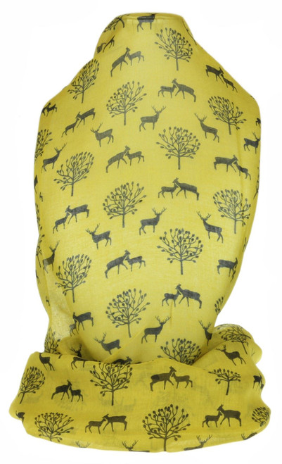Deers And Trees Scarf