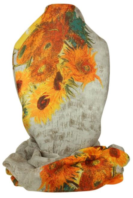 Vase Sunflower Print Scarf
