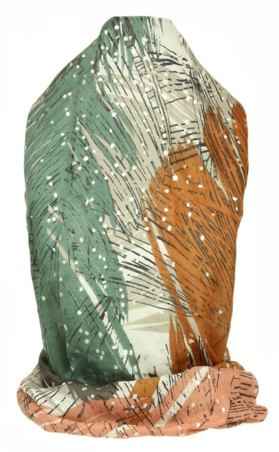 Feathers Dots Print Scarf