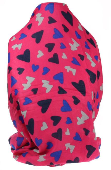 Hearts Confetti Print Scarf