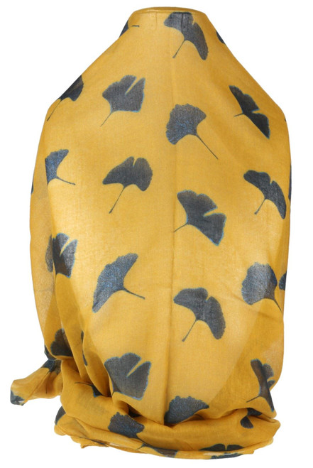 Ginko Leaves Print Scarf