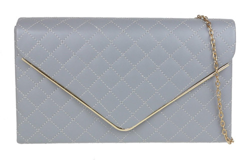 Retro Quilted Clutch Bag