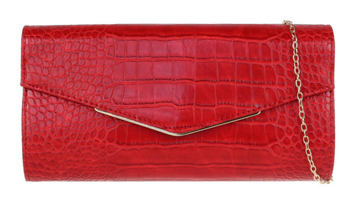 Croc Small Frame Clutch Bag