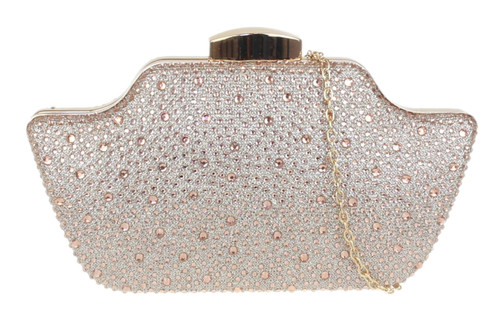 Womens Diamante Shape Clutch Bag