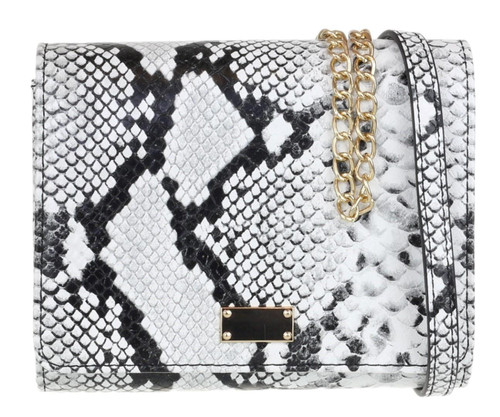 Womens Snake Skin Mini Clutch Bag