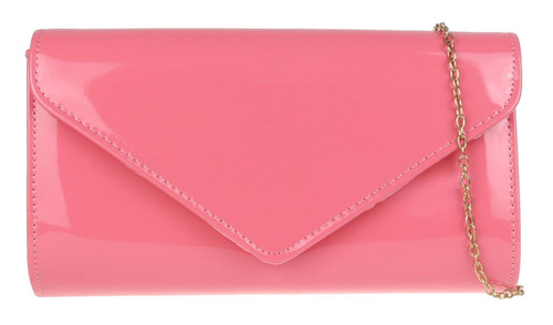 Womens Plain Glossy Clutch Bag