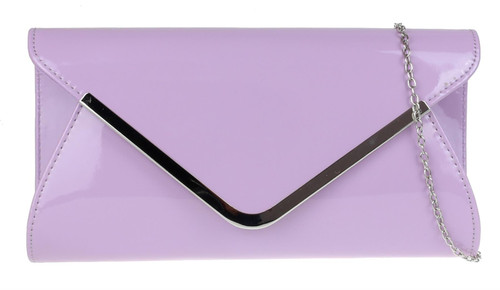 Womens Glossy Oversized Clutch Bag