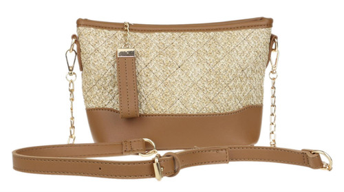 Womens Woven Crossbody Bag