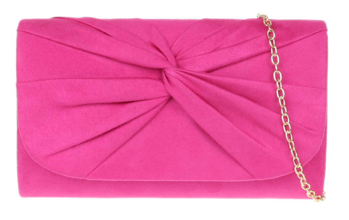Womens Twist Plain Clutch Bag