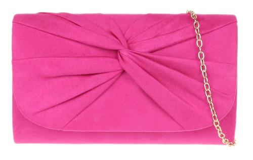 Womens Twist Plain Clutch Bag