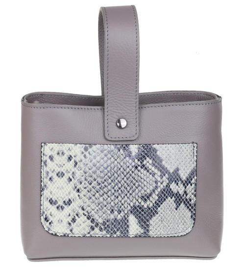 Womens Snake Skin Pocket Handbag