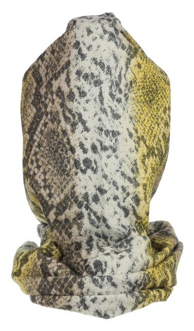 Womens Tassel Snake Skin Print Scarf