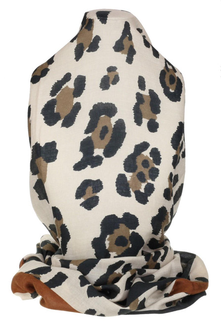 Womens Leopard Soft Print Scarf