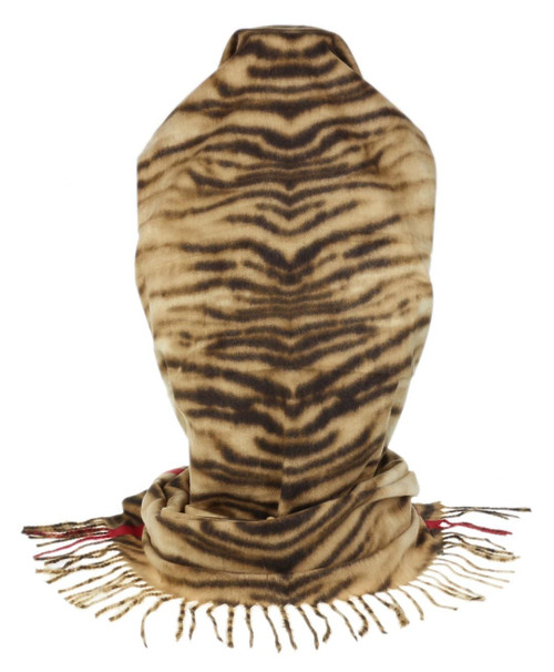 Womens Zebra Fringe Scarf