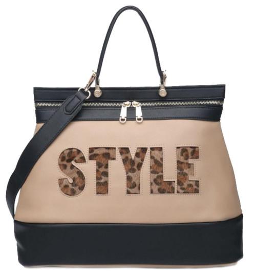 Womens Style Slogan Shoulder Bag