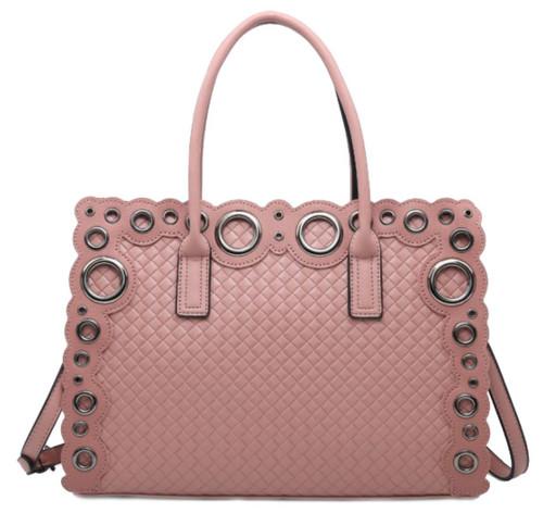 Womens Laser Cut Circle Shoulder Bag
