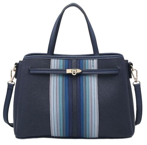 Womens Front Stripes Shoulder Bag
