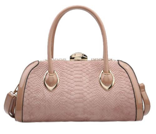 Womens Snake Skin Rigid Handbag