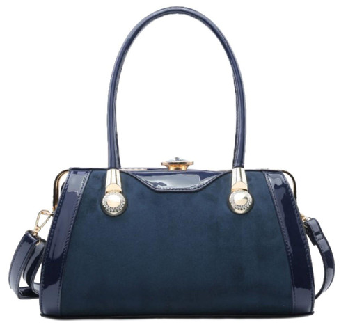 Womens Glossy Trim Shoulder Bag