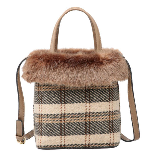 Womens Top Fur Shoulder Bag