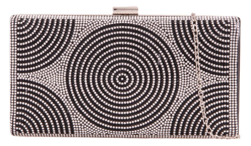 Womens Circle Diamante Clutch Bag