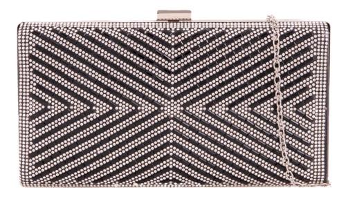 Womens Diamante Geometric Clutch Bag