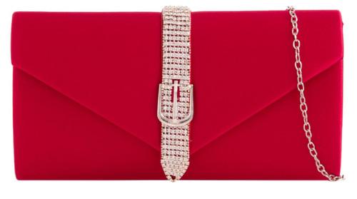 Womens Diamante Belt Clutch Bag