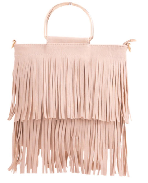 Womens Fringe Small Handbag