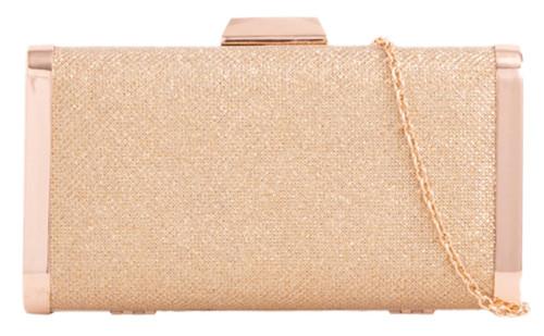 Womens Glitter Compact Clutch Bag