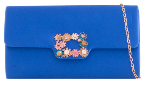 Womens Flowers Frame Clutch Bag