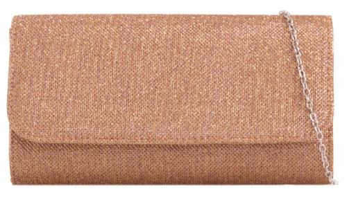 Womens Glitter Plain Clutch Bag